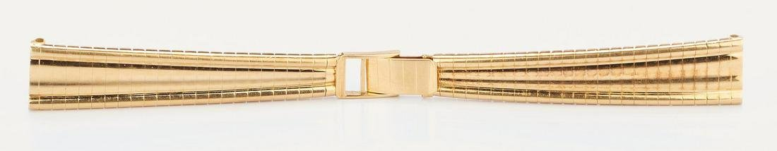 Ladies 18K Yellow Gold Watch Band