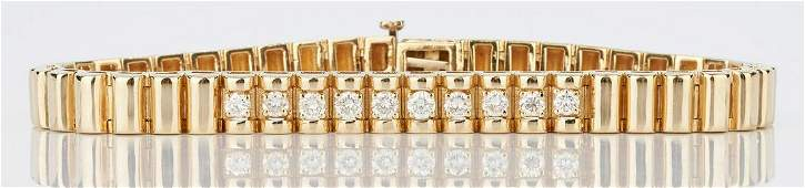 Ladies 14K Gold & Diamond Bracelet
