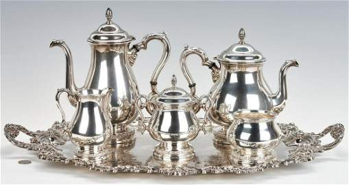 International Prelude 5-Piece Sterling Tea Service, E/P