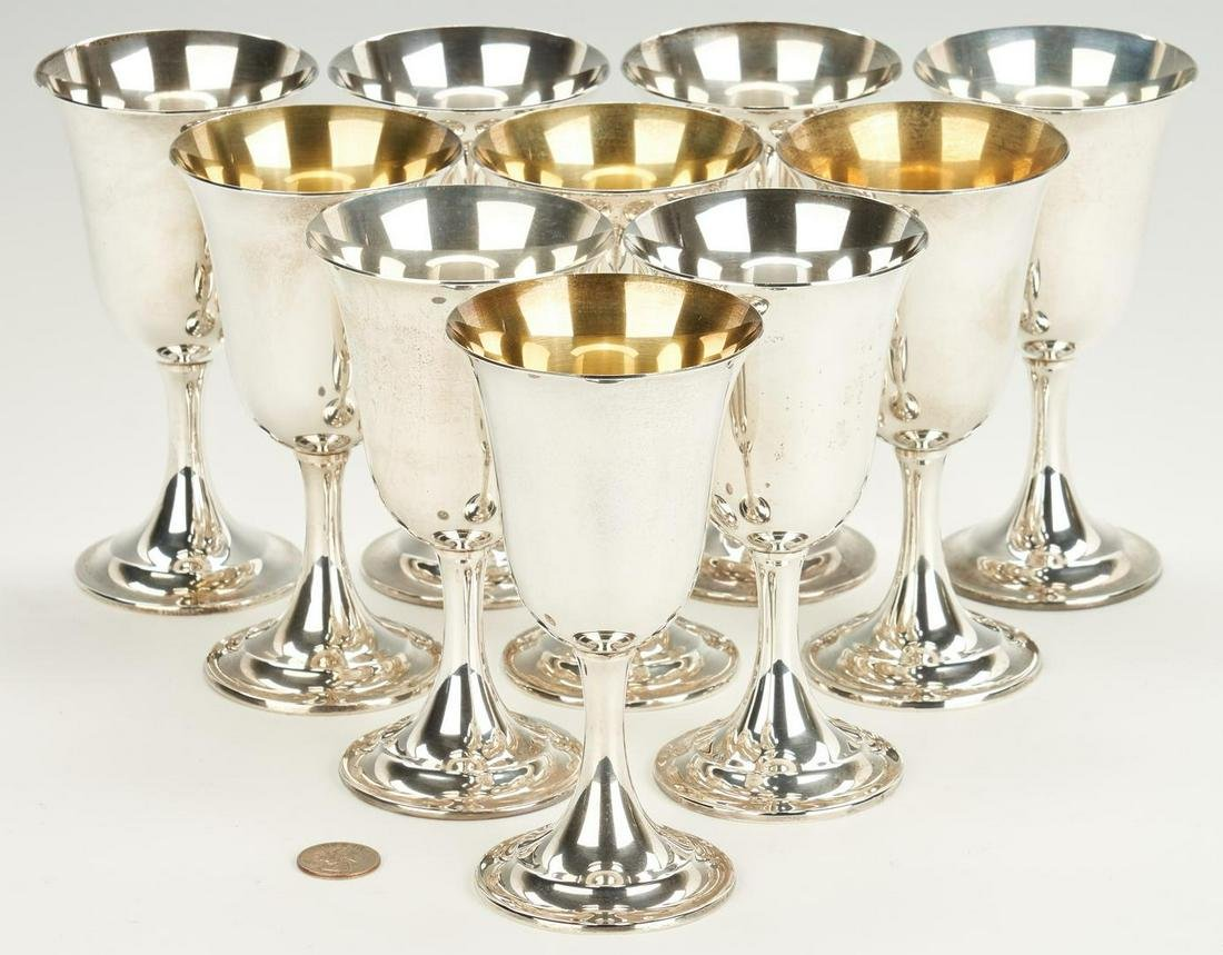 10 International Lord Saybrook Sterling Goblets