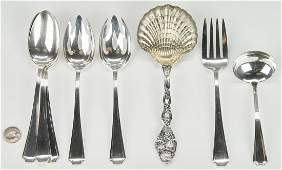 Tiffany Strawberry Vine Spoon and 7 Gorham Fairfax