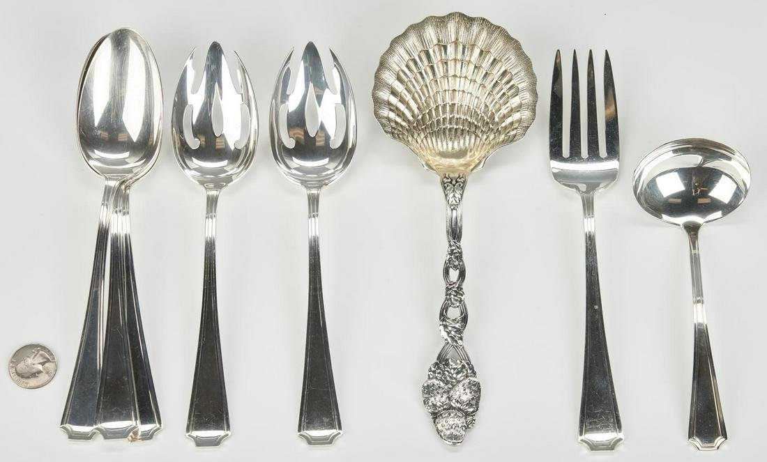 Tiffany Strawberry Vine Spoon and 7 Gorham Fairfax