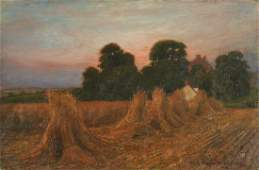 19th c Haystack Painting oc signed