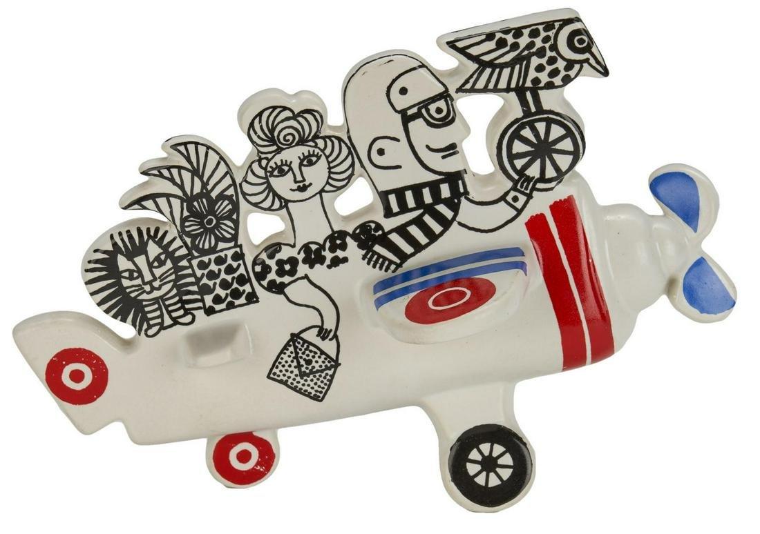 Lisa Larson Ceramic Airplane, Mid-Century