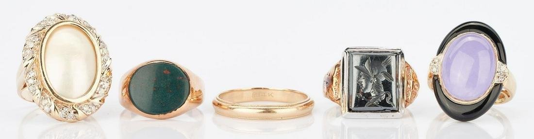 5 Ladies Gold and Gemstone Rings