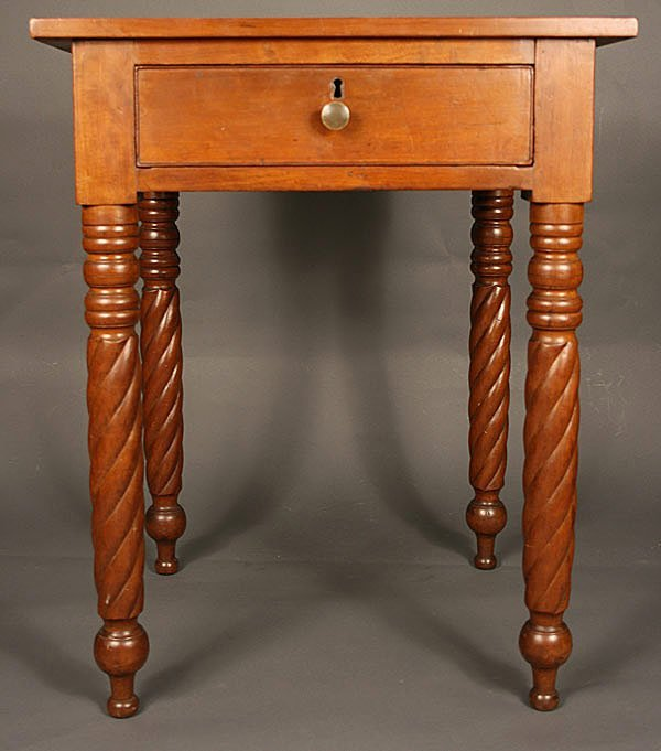 6: Middle TN one drawer spiral leg  stand, Davidson Co.