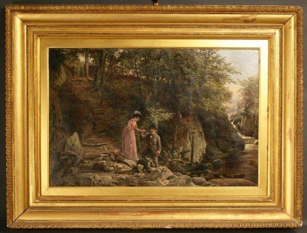 160: Oil painting W. Bromley (British, fl. 1835 -1888)