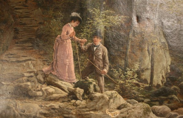 160: Oil painting W. Bromley (British, fl. 1835 -1888) - 2
