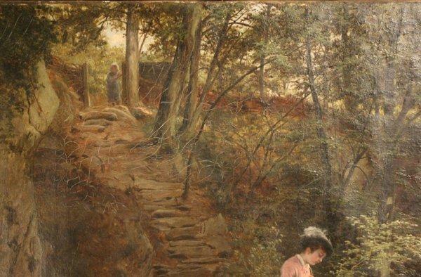 160: Oil painting W. Bromley (British, fl. 1835 -1888) - 3