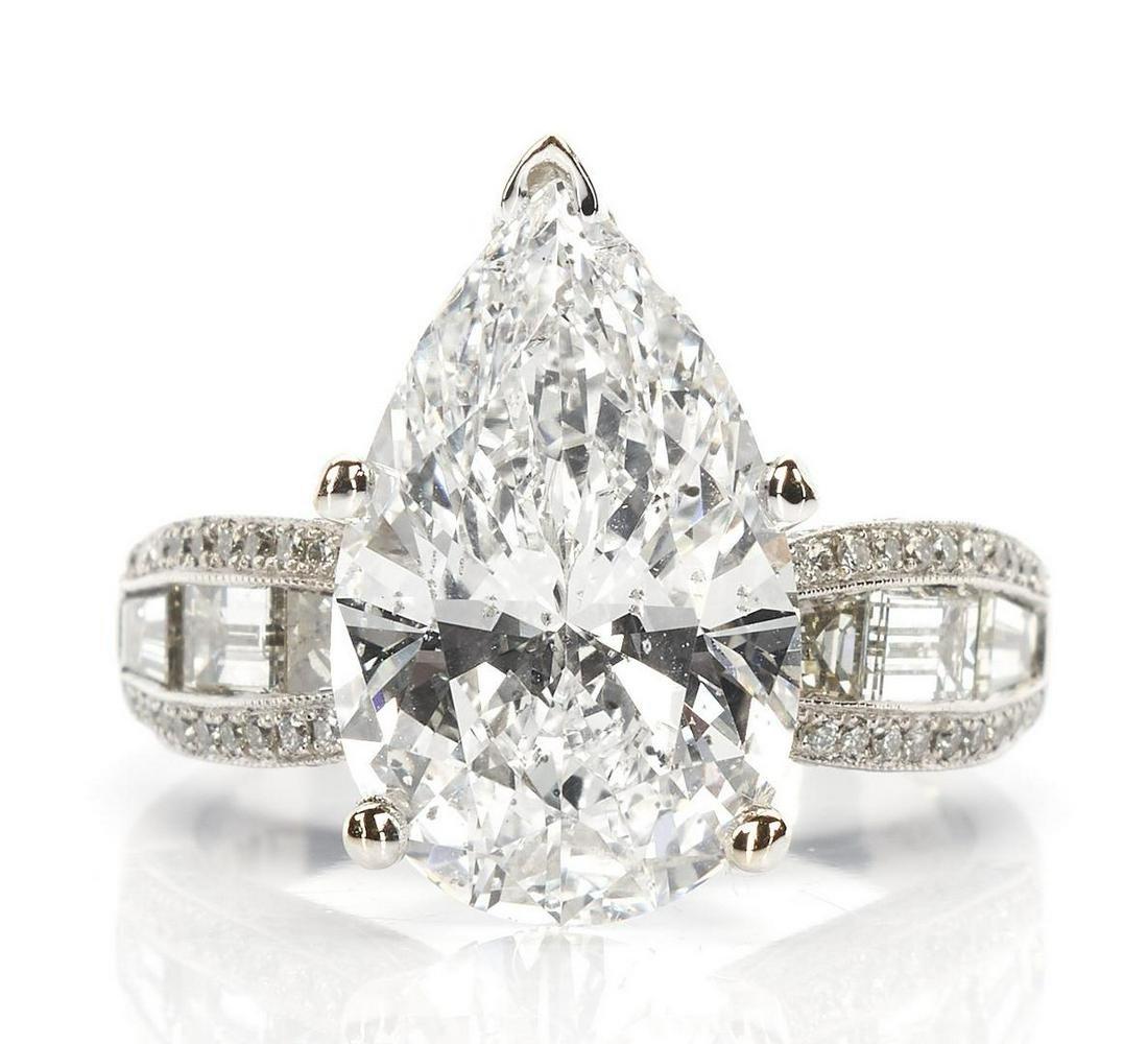 Ladies Platinum & 6 Carat  Diamond Engagement Ring