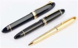 3 Pens incl Montblanc Cartier Omas