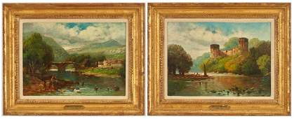 2 Scottish Landcapes by Andrew Melrose incl Bothwell