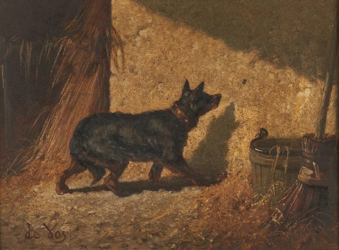 Vincent de Vos O/P, Dog With Insect