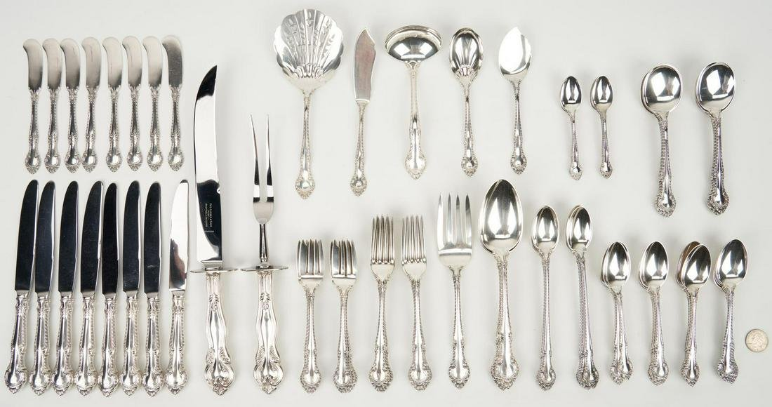 84 Pcs. Sterling Silver, incl. Gorham English Gadroon