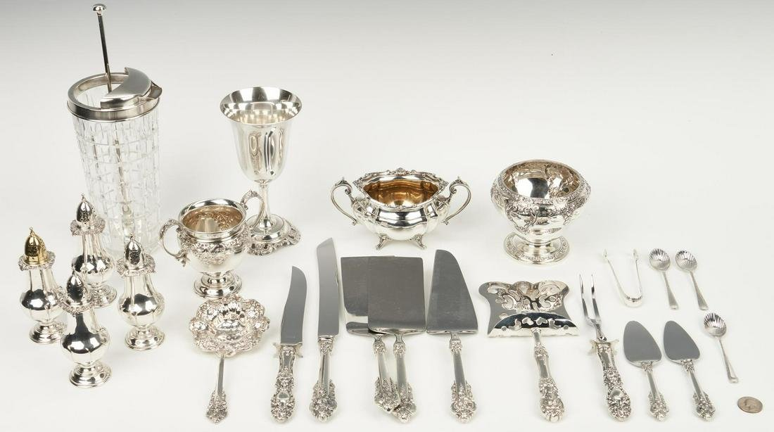 Grand Baroque & Francis I Servers plus Cocktail Shaker