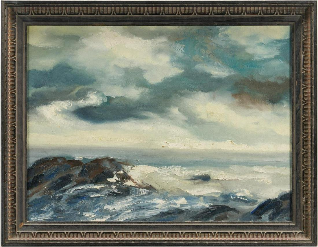 C. Kermit Ewing Oil on Canvas  Seascape