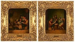 Pr. O/B Tavern Scenes, Manner of David Teniers II