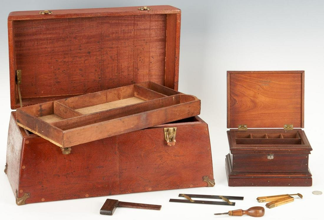 2 Tool Chests, incl. Salesman Sample, Signed