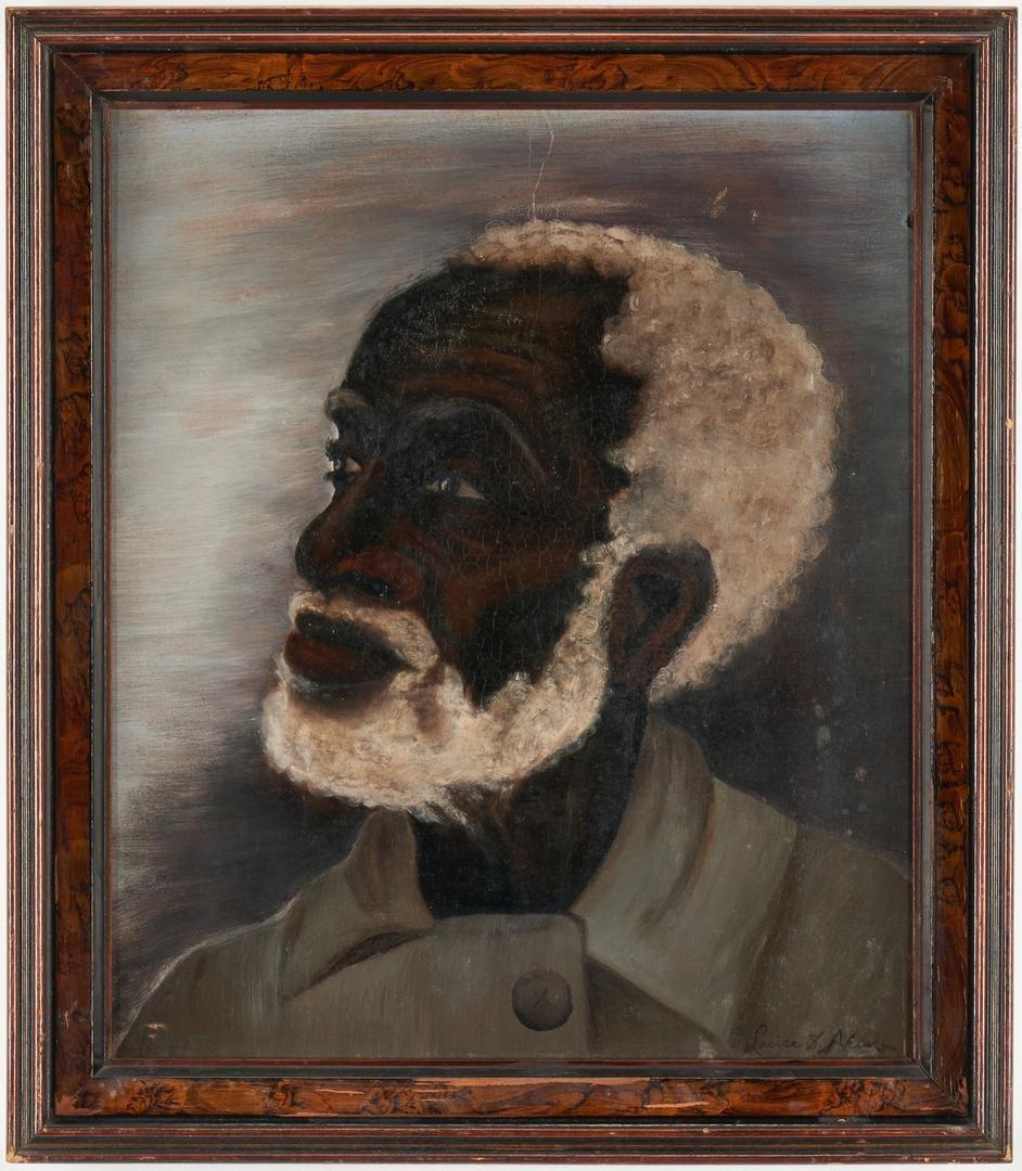 Folk Art O/B Portrait of a Black Man