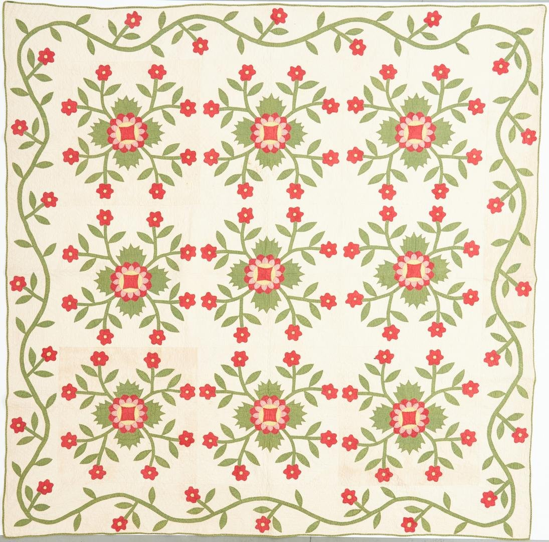 Southern/East TN Quilt, Whig Rose Pattern
