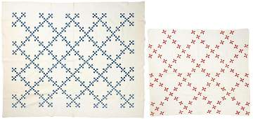 2 Southern Irish Chain Quilts, likely E. TN