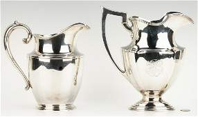 2 Sterling Water Pitchers Gorham and Wallace