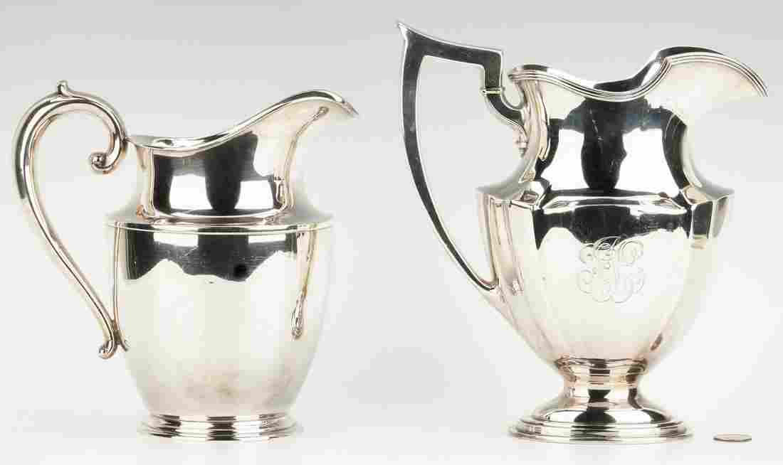 2 Sterling Water Pitchers, Gorham and Wallace