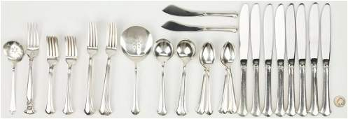 45 pcs. Sterling Flatware, incl. Towle Chippendale