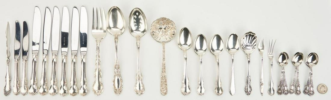 38 pcs.  Sterling Flatware inc. Towle French Provincial