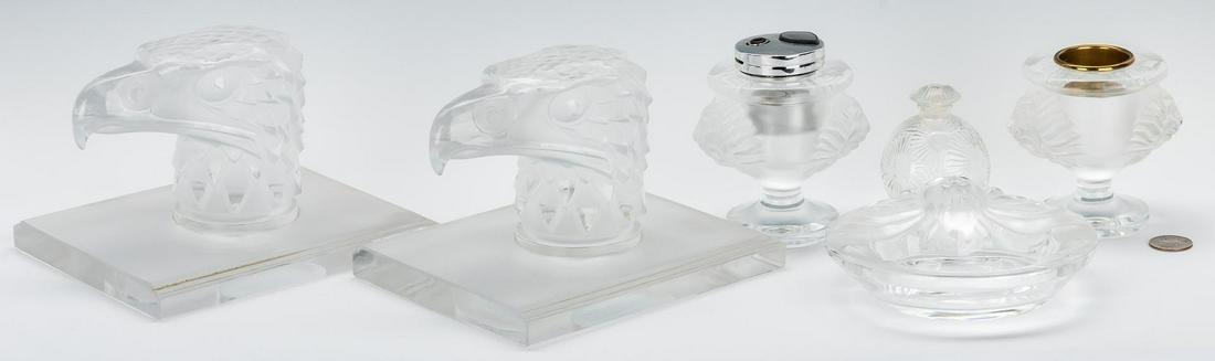 Group of Lalique Glass, 6 pcs. incl. Smoke Set