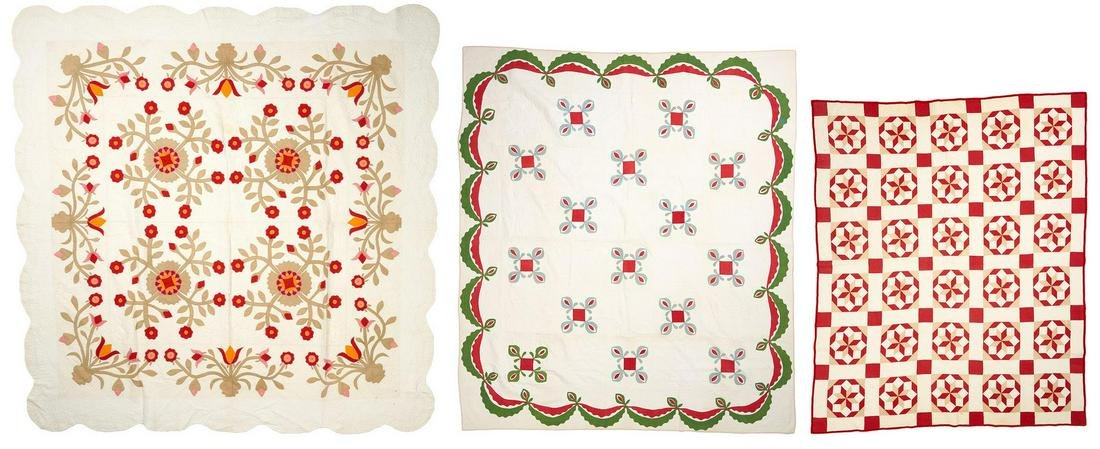 3 Southern/East TN Pieced Cotton Quilts, incl. Whig