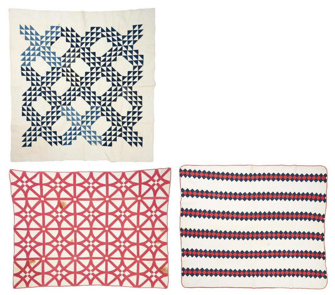 3 Southern/East TN Pieced Cotton Quilts, incl. Ocean