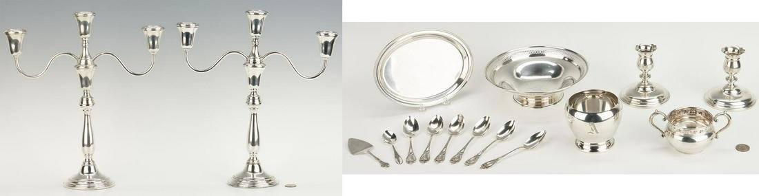 16 items Sterling Silver, incl. Towle Candelabra