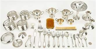 45 Asst. Sterling Silver Items, incl. Flatware