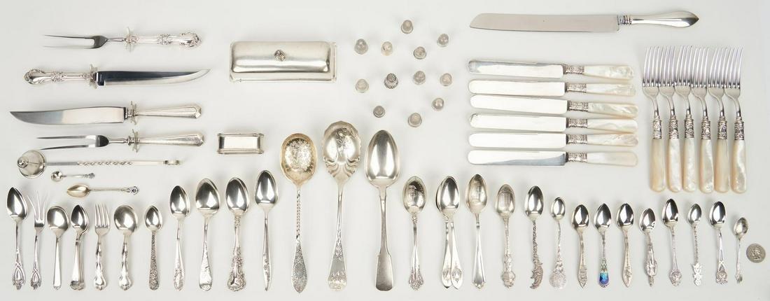 67 Pcs. assorted silver inc. Souvenir Spoons, Russian