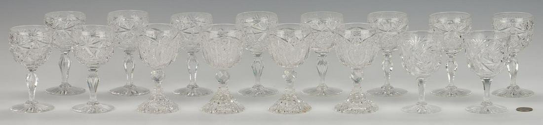 16 ABPCG Goblets including signed Libbey