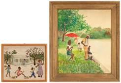 2 African American Framed Works