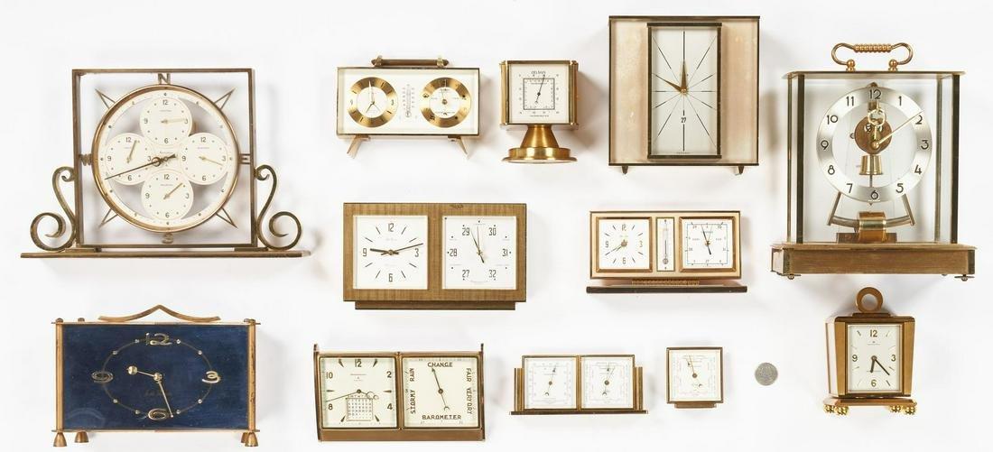 12 German/Swiss Clocks, incl. Seth Thomas, Elgin