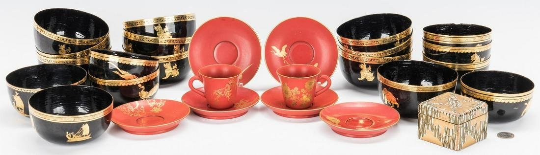 27 Assorted Asian Lacquerware Items