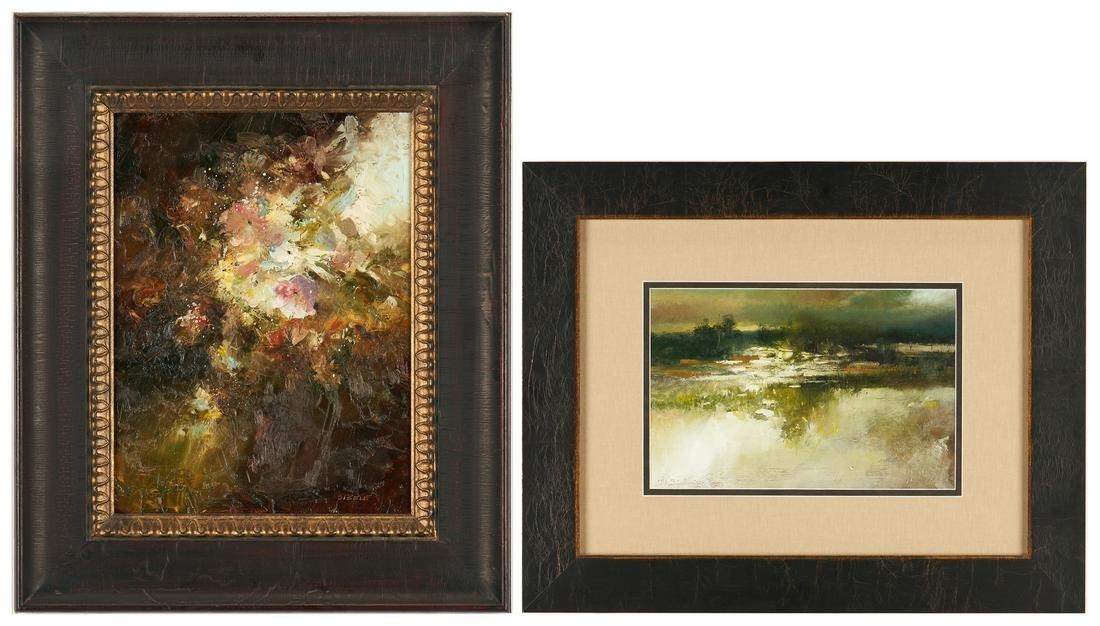2 Darryl Glenn Steele O/C Paintings