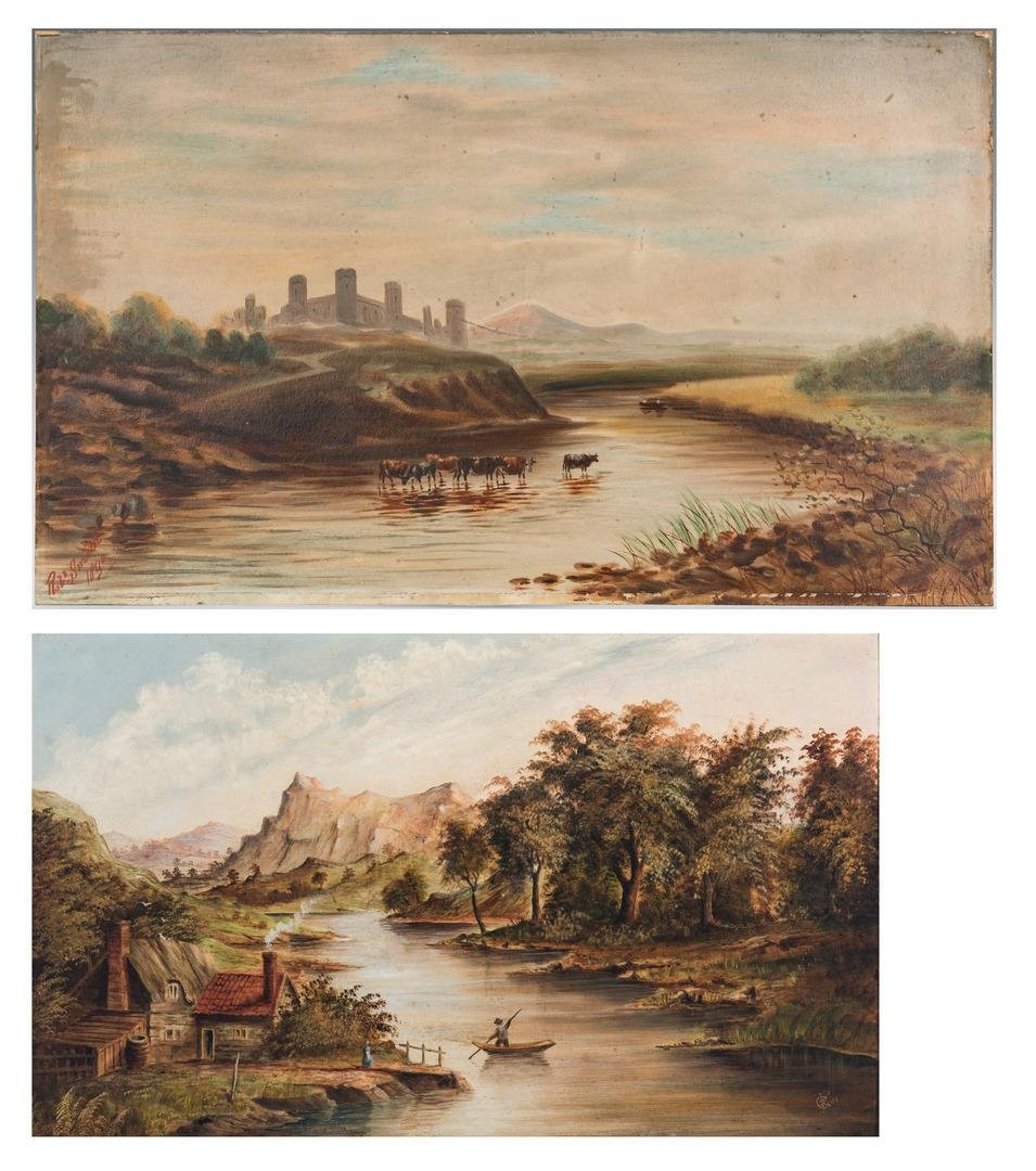 2 19th C. Landscape Paintings inc. Robert Smith