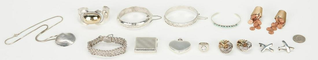 Designer Sterling jewelry incl. Tiffany, 12 items