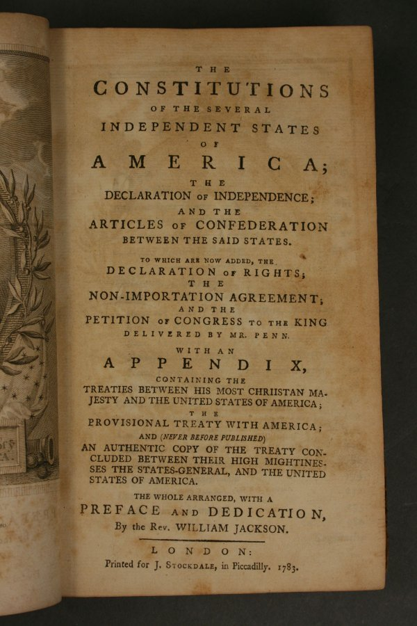 6: Constitution of Independent States of America, 1783