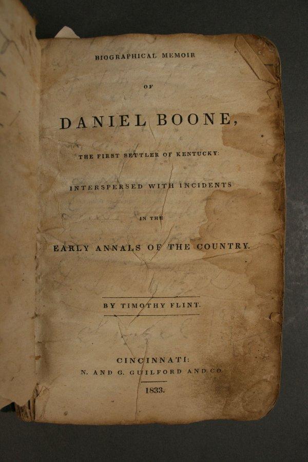 9: Memoir of Daniel Boone, Timothy Flint, 1833