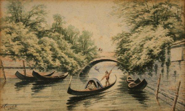 11: Venice painting - Thomas Campbell (TN, 1834-1914)