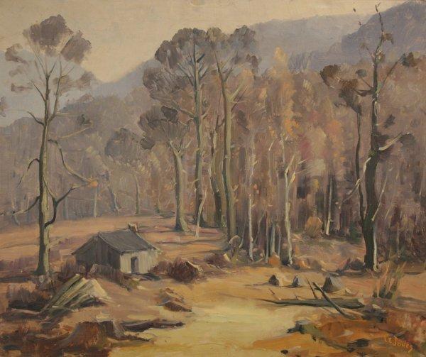 12: Tennessee landscape oil painting by Louis E. Jones