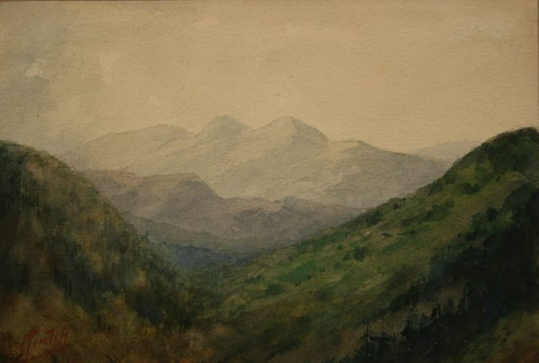 13: TN mountain watercolor painting by Charles Krutch