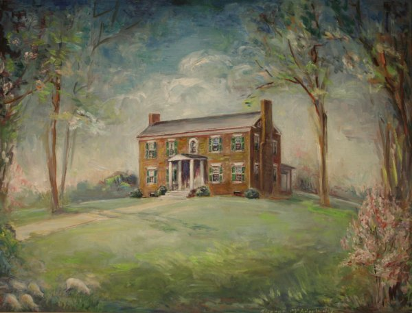 15: Large Tennessee house painting by Eleanor Wiley, TN