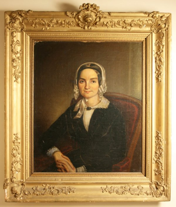 16: Female portrait painting attrib. Samuel Shaver (TN)