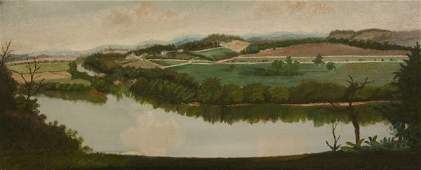 88: Landscape oil painting, Tennessee river, Lyons Bend